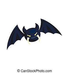 Bat icon in cartoon style