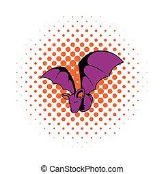 Bat icon in comics style