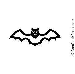 Bat icon isolated on white background