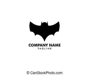 Bat icon logo vector illustration