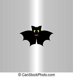 bat icon symbol black logo design vector sign