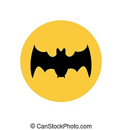 Bat illustration silhouette
