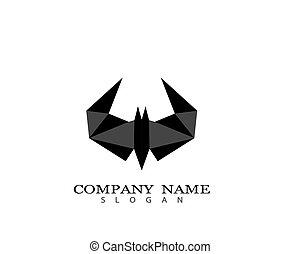 Bat logo template vector icon illustration design