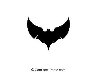Bat logo vector icon template