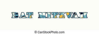 Bat Mitzvah Concept Word Art Illustration