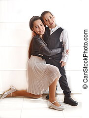 Bat Mitzvah girl with her brother - Secular 12-year-old...