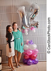 Bat Mitzvah girl with her older sister - Secular 12-year-old...
