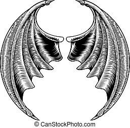 Bat or Dragon Wings Design