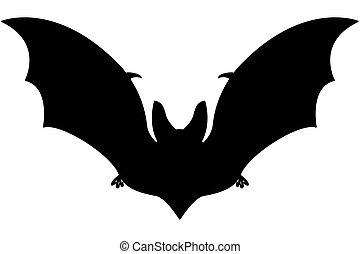 Bat silhouette illustration