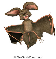 bat toon - 3d render