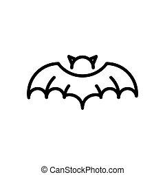 Bat Vampire Halloween Icon - Bat Vampire Halloween Concept...