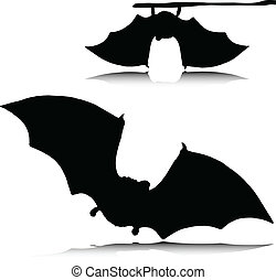 bat vampire vector silhouettes