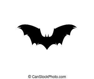 Bat vector icon - Bat logo template vector icon illustration...