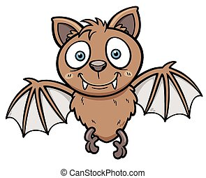 Bat - Vector illustration of Cartoon bat