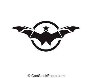 Bat vector logos
