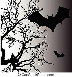 bat vector silhouette illustration