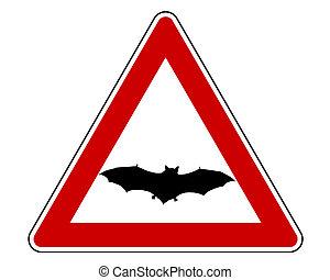 Bat warning sign