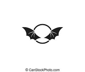 Bat wing  ilustration logo vector