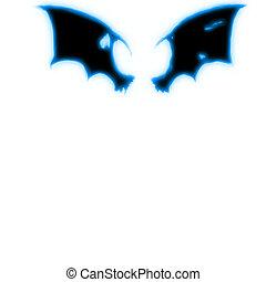 bat Wings - bat wings with blue glow