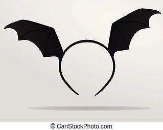 Bat wings headband mask