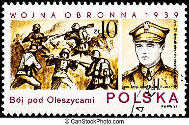 batalha, oleszyce, polônia, gen., josef, kustron