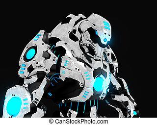 batalha, robô