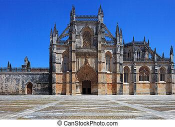 batalha, sitio, monastery., portugal, unesco