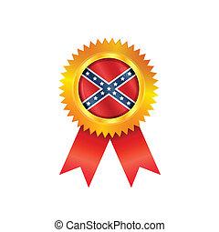 batalla, bandera, medalla, confederado