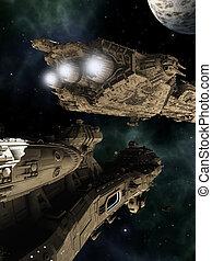 batalla, cruceros