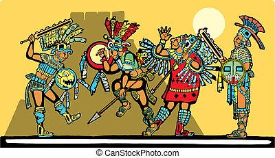 batalla, maya