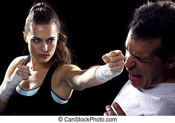 batalla, sexos