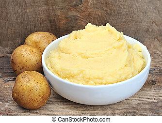 batata, purês batata