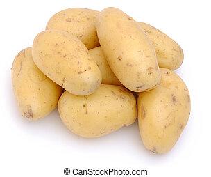 batatas, isolado, branco, fundo