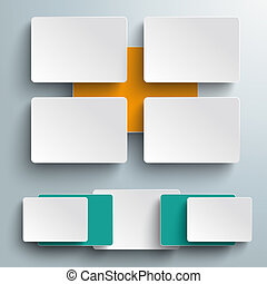Batched Colored Rectangles 3 Options Infographic PiAd -...