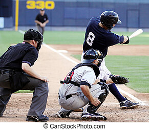 bateador del béisbol, columpio, right-handed