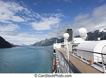 bateau, alaska, croisière
