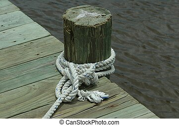 bateau, amarrage