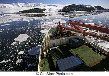 bateau, antarctique