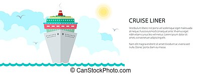 bateau, bannière, croisière