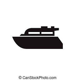 bateau, bateau, icône