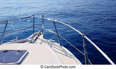 bateau bleu, mer, calme, voile