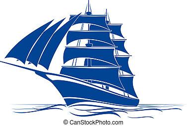 bateau, brigantin