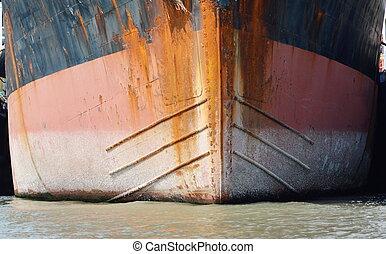 bateau, cargaison, proue