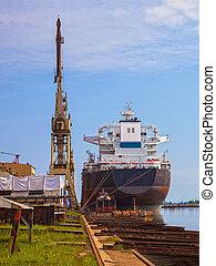 bateau, chantier naval