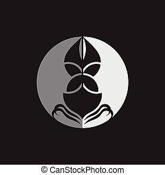 bateau, conception, logo, symbole, nautisme, ombre, vecteur