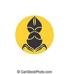bateau, conception, soleil, vecteur, lune, nautisme, géométrique, symbole