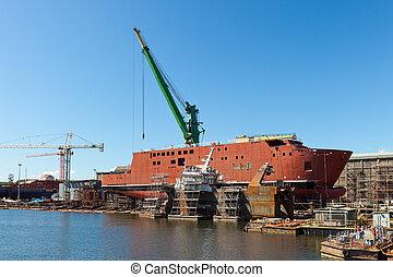bateau, construction