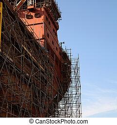 bateau, construction, sous