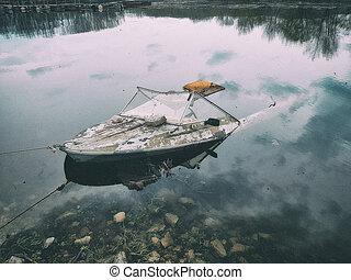 bateau, couler, bateau