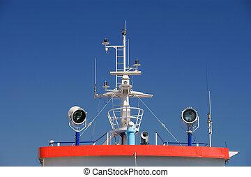 bateau, détail, pont